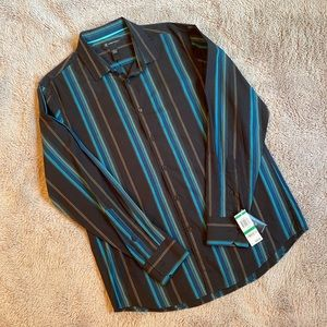NWT INC International Concepts Striped Dress Shirt